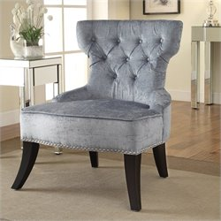 Avenue Six Colton Tufted Chair in Grey
