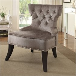 Avenue Six Colton Tufted Chair in Brown