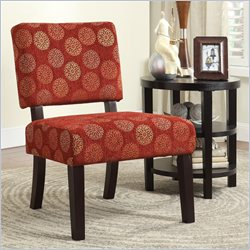 Avenue Six Jasmine Accent Chair in Blossom Wine