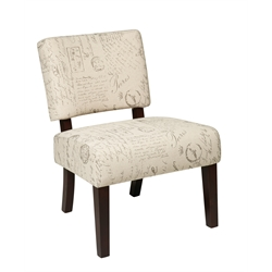 Accent Chair in Script