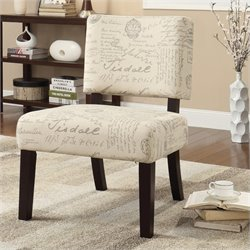 Avenue Six Jasmine Accent Chair in Script