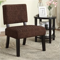 Avenue Six Jasmine Accent Chair in Maze Chocolate