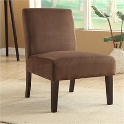 Avenue Six Laguna Chair in Chocolate Velvet