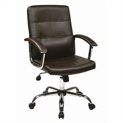 Avenue Six Malta Office Chair in Espresso