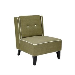 Avenue Six Marina Upholstered Slipper Chair in Woven Seaweed