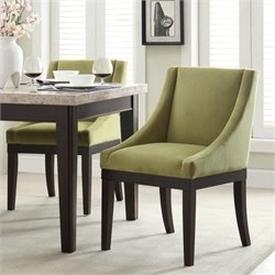 Avenue Six Monarch Dining Chair in Basil Velvet