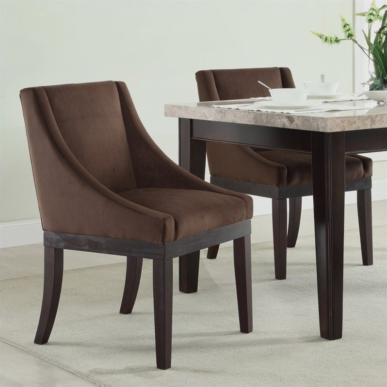 Monarch Dining Chair in Chocolate Velvet