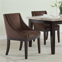 Avenue Six Monarch Dining Chair in Chocolate Velvet