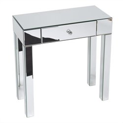 Avenue Six Reflections Foyer Table in Silver Mirror