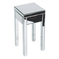 Avenue Six Reflections End Table in Silver Mirror