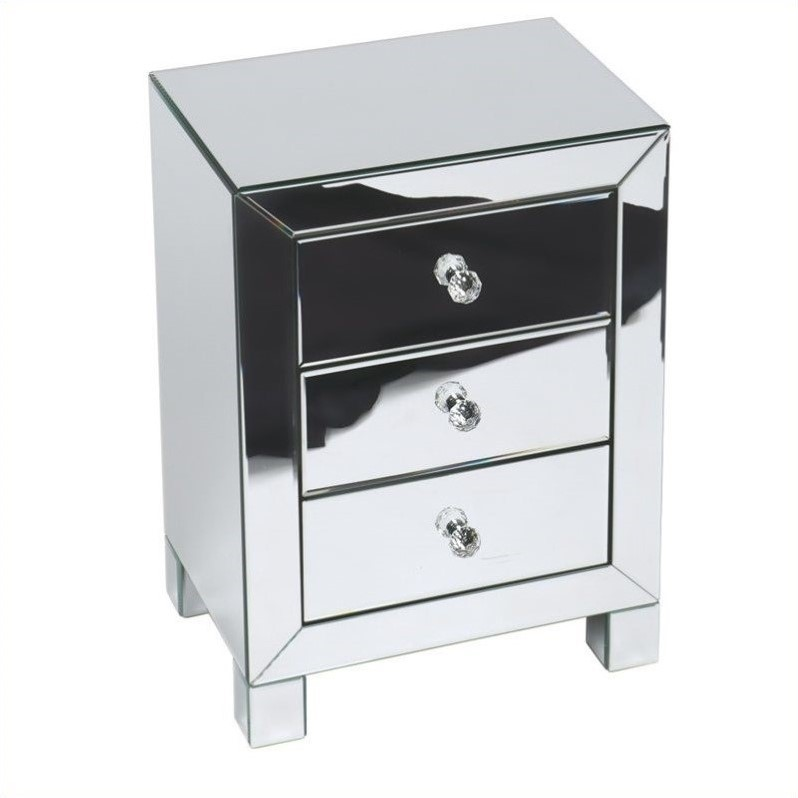 Reflections Accent Table in Silver Mirror Finish