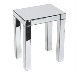 End Table in Silver Mirror