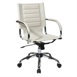 Avenue Six Trinidad Office Chair With Fixed Padded Arms and Chrome in Cream