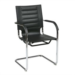 Avenue Six Trinidad Guest Chair in Black Vinyl