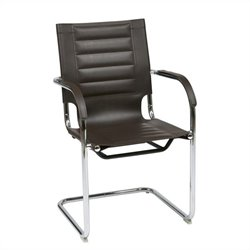 Avenue Six Trinidad Guest Chair in Espresso Vinyl