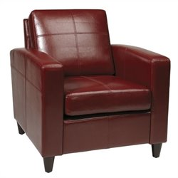 Leather Club Chair in Red