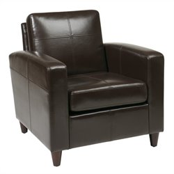 Avenue Six Venus Leather Club Chair in Espresso