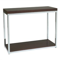 Avenue Six Wall Street Foyer Table in Espresso