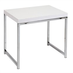 Avenue Six Wall Street End Table in White