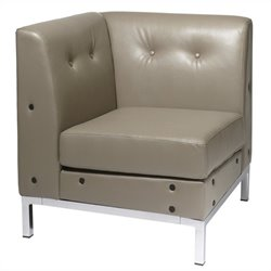 Avenue Six Wall Street Corner Chair in Gray
