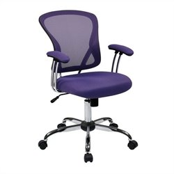 Avenue Six Juliana Task Chair in Purple