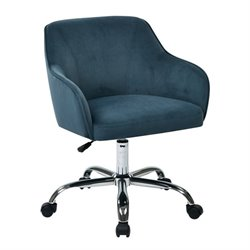 Avenue Six Task Office Chair in Atlantic Blue Velvet