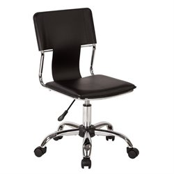 Avenue Six Carina Office Chair in Black Vinyl