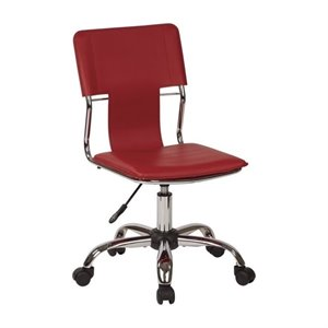 Office Chair in Red Vinyl