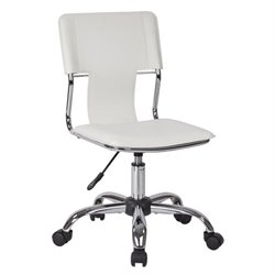 Avenue Six Carina Office Chair in White Vinyl