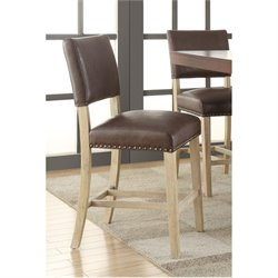 Avenue Six Carson Faux Leather Counter Stool in Elite Espresso