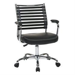 Black Office Chair With Black Elastic Straps