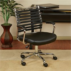 Avenue Six Randal Black Office Chair With Black Elastic Straps
