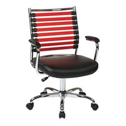 Black Office Chair With Red Elastic Straps