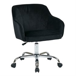 Avenue Six Bristol Velvet Fabric Office Chair in Black