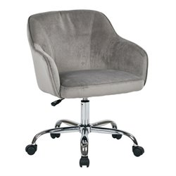 Velvet Fabric Office Chair in Charcoal