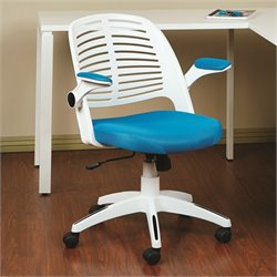 Avenue Six Tyler Blue Office Chair With Frame in White