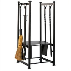 Iron Log Rack with Tools