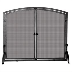 Uniflame Medium Single Panel Olde World Iron Screen with Doors