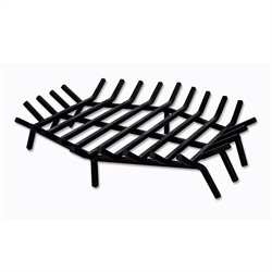 27 Inch Hex Shape Bar Grate for Outdoor Fireplaces