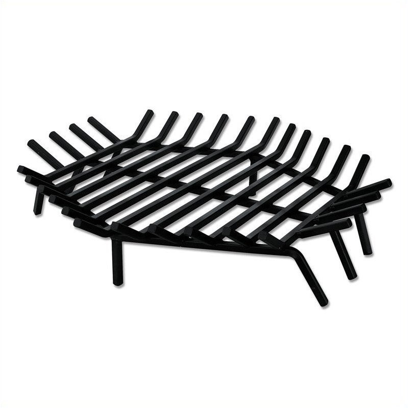Uniflame 30 Inch Hex Shape Bar Grate for Outdoor Fireplaces