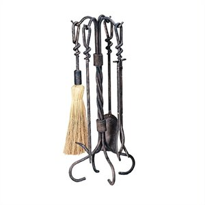 5 Piece Antique Rust Wrought Iron Toolset