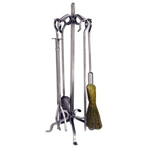 5 Piece Stainless Steel Fireset with Crook Handles