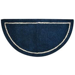 Deep Blue Hand Tufted 100% Wool Rug