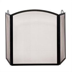 3 Fold Black Wrought Iron Medium Screen