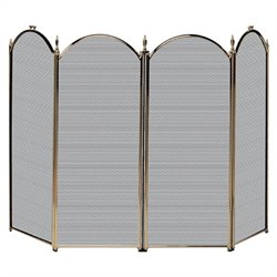 4 Fold Antique Brass Screen