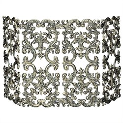 Uniflame 4 Fold Antique Gold Cast Aluminum Screen