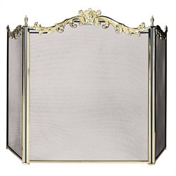Uniflame 3 Fold Cast Solid Brass Screen