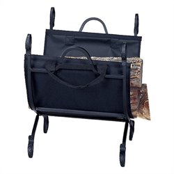 Uniflame Black Log Holder with Canvas Carrier