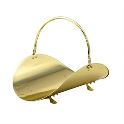 Uniflame 19 Inch Polished Brass Woodbasket