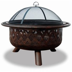 Wood Burning Bronze Outdoor Fire Pit